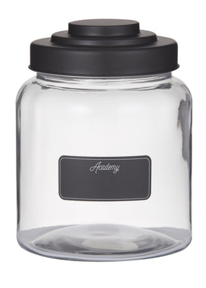 Glass Display Jar With Balckboard Label