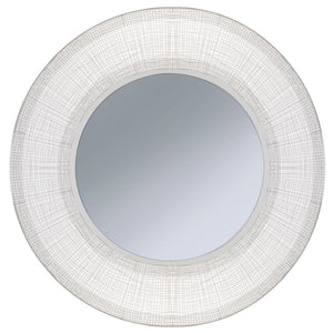 White Hyde Metal Wall Mirror