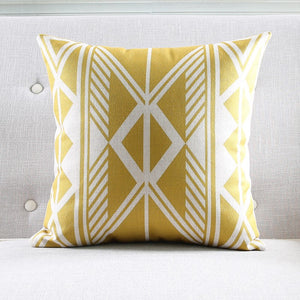 Tribal yellow cushion