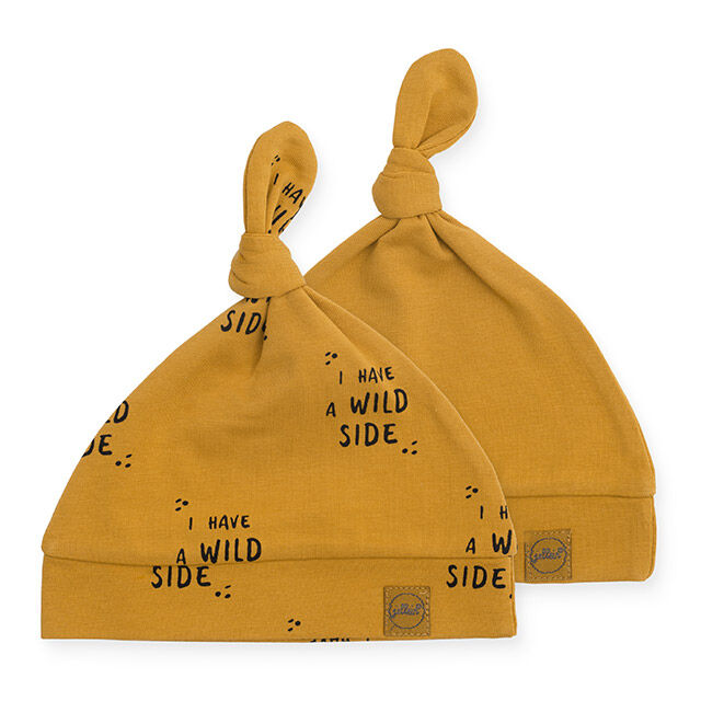 Jollein Muts  Wild animal mustard (2pack)