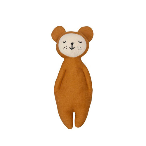 Fabelab - Rattle Soft Bear - Ochre