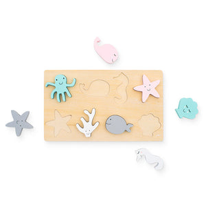 Jollein Puzzel hout Sea animals