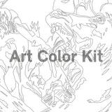 Art Color Kit: Horses Adult Coloring Activity with Artist Alexandrea Pangburn