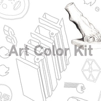 Art Color Kit: Doodles Adult Coloring Activity with Artist Greg Gandy