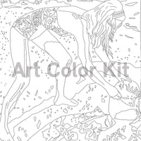 Art Color Kit: Beach Scene Adult Coloring Activity with Artist Jon Nowell