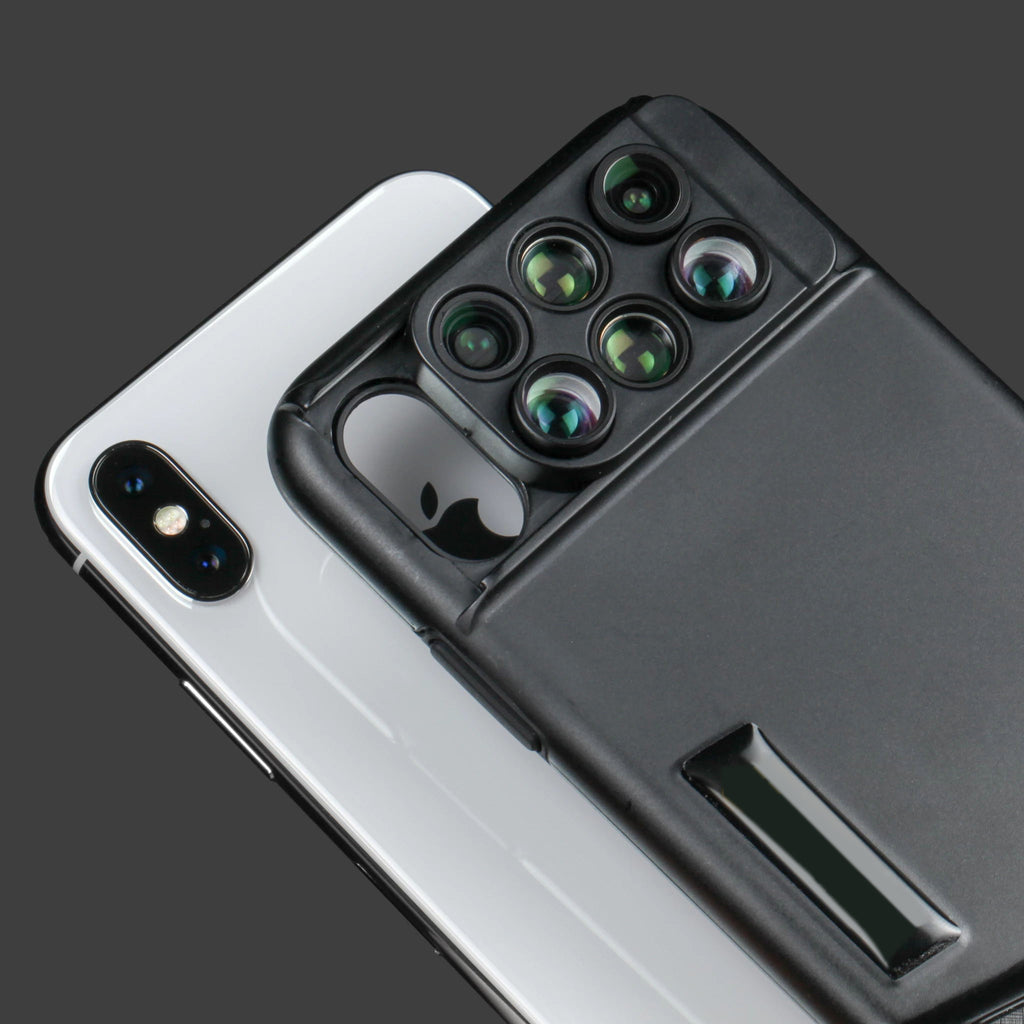 (6-In-1 LENS) CAMERA PHONE CASE FOR IPHONE X(free shipping)