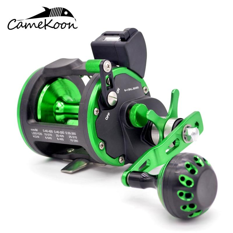 CAMEKOON DEEP SEA FISHING REEL WITH LINE COUNTER 15KG DRAG POWER