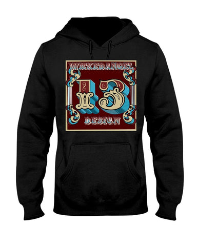Lucky 13 Tattoo - Wickedangel Design Hoodie
