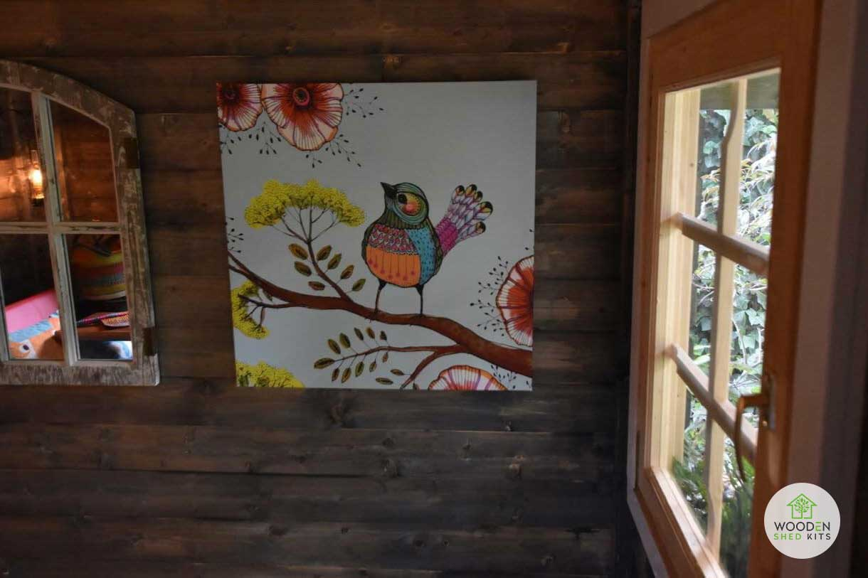 dark stain wooden shed finish