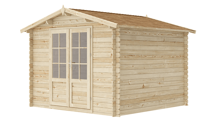 10 ft x 10 ft Wood Shed Kit - WoodenShedKits