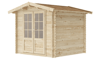 Load image into Gallery viewer, 8 ft x 8 ft Wood Shed Kit - WoodenShedKits