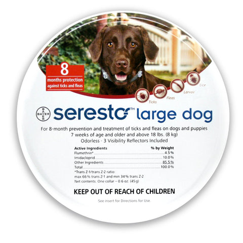 SERESTO 8 Month Tick Collar for Large Dogs