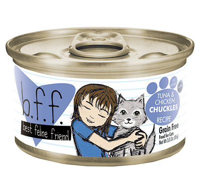 BFF Tuna & Chicken Chuckles Canned Cat Food Case