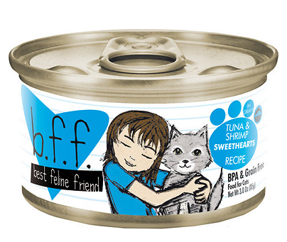 BFF Tuna & Shrimp Sweetheart Canned Cat Food Case