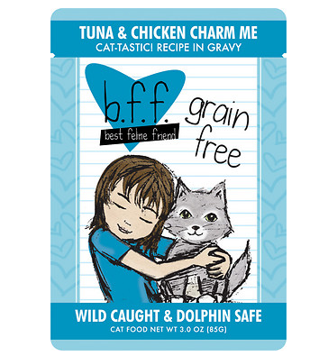 BFF Tuna & Chicken Charm Me Cat Food Pouch Case 24/3 oz.