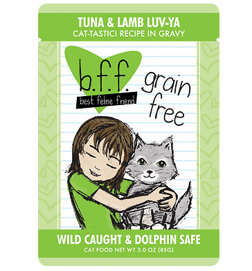 BFF Tuna & Lamb Luv Ya Cat Food Pouch Case 24/3 oz.