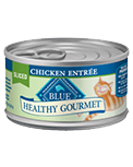 BLUE BUFFALO Healthy Gourmet Sliced Chicken Canned Cat Food 24/3 oz