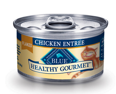 BLUE BUFFALO Healthy Gourmet Flaked Chicken Canned Cat Food Case
