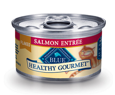 BLUE BUFFALO Healthy Gourmet Flaked Salmon Canned Cat Food 24/3 oz