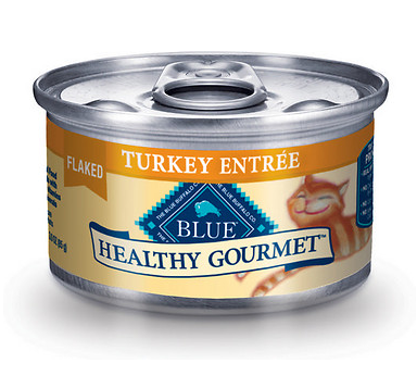 BLUE BUFFALO Healthy Gourmet Flaked Turkey Canned Cat Food 24/3 oz