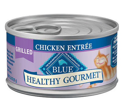 BLUE BUFFALO Healthy Gourmet Grilled Chicken Canned Cat Food 24/3 oz