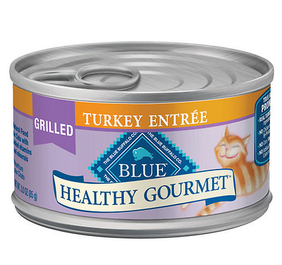 BLUE BUFFALO Healthy Gourmet Grilled Turkey Canned Cat Food 24/3 oz