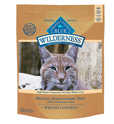 BLUE BUFFALO Wilderness Grain-Free Weight Control Chicken Dry Cat Food