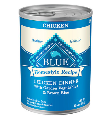 BLUE BUFFALO Chicken Dinner Canned Dog Food 12/12.5 oz