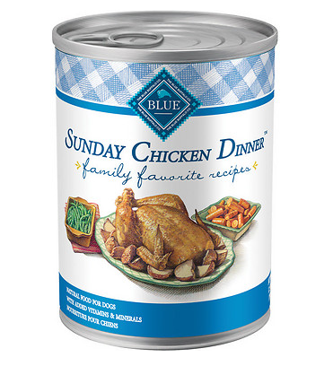 BLUE BUFFALO Sunday Chicken Dinner Canned Dog Food 12/12.5 oz