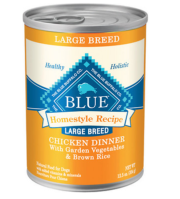 BLUE BUFFALO Large Breed Chicken Canned Dog Food 12/12.5 oz