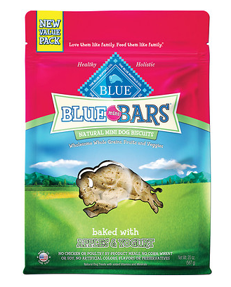 BLUE BUFFALO Mini Bar Apple and Yogurt Dog Treat 20 oz