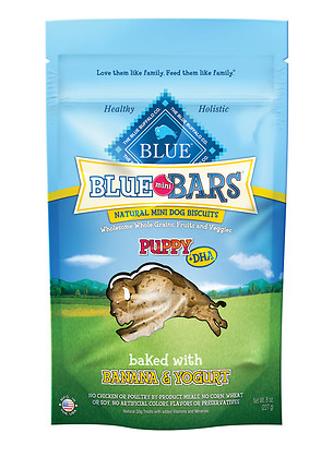 BLUE BUFFALO Mini Bar Banana and Yogurt Puppy Treat 8 oz