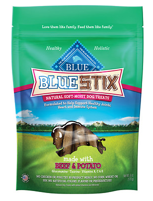BLUE BUFFALO Stix Beef and Potato Dog Treats 6 oz