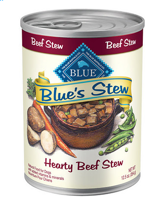 BLUE BUFFALO Beef Stew Canned Dog Food 12/12.5 oz
