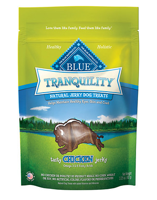 BLUE BUFFALO Dog Tranquility Chicken Jerky 3.25 oz