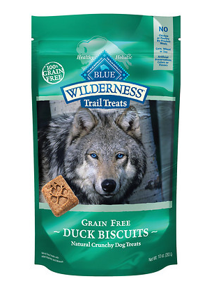 BLUE BUFFALO Wilderness Duck and Chicken Grain-Free Dog Biscuits 10 oz