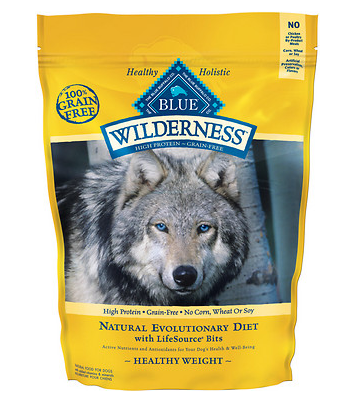 BLUE BUFFALO Wilderness Grain-Free Healthy Weight Chicken Dry Dog Food