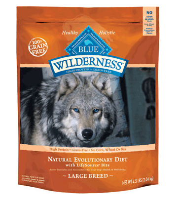 BLUE BUFFALO Wilderness Grain-Free Large Breed Chicken Dry Dog Food 24 lb