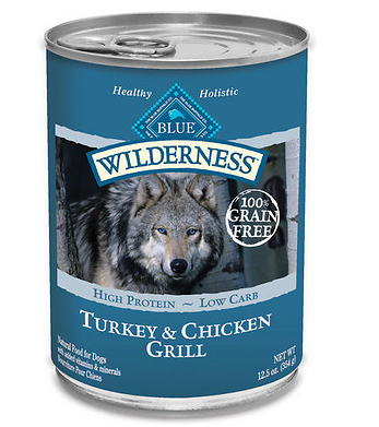 BLUE BUFFALO Wilderness Grain-Free Turkey and Chicken Canned Dog Food 12/12.5 oz