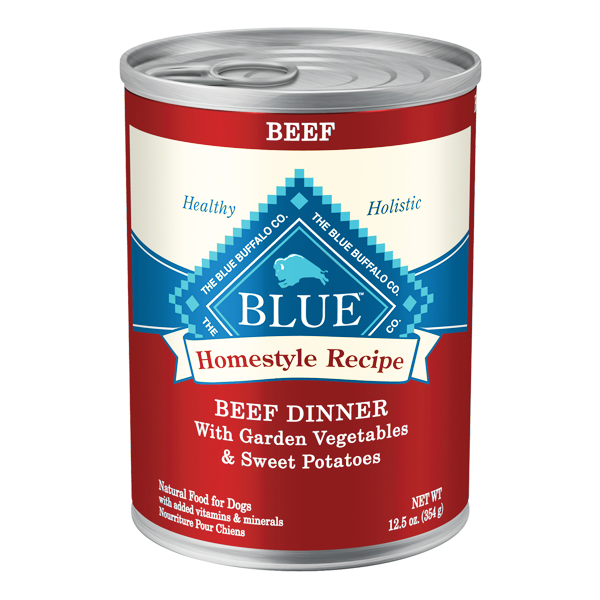 BLUE BUFFALO Beef Dinner Canned Dog Food 12/12.5 oz