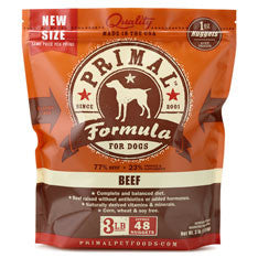 PRIMAL Frozen Raw Canine Beef Formula