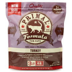 PRIMAL Frozen Raw Feline Turkey Formula 3 lb.