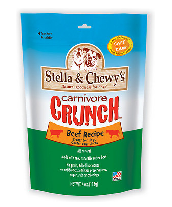 STELLA & CHEWY'S Beef Recipe Carnivore Crunch Dog & Cat Treats 3.25 oz.