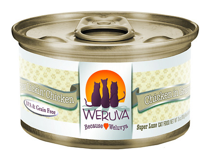 WERUVA Paw Lickin' Chicken Grain-Free Canned Cat Food Case
