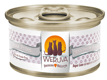 WERUVA Steak Frites Grain-Free Canned Cat Food Case