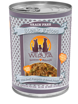 WERUVA Steak Frites Grain-Free Canned Dog Food Case