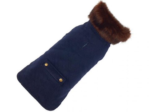UP COUNTRY Blue Velvet Coat