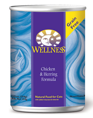 WELLNESS Chicken and Herring Canned Cat Food Case