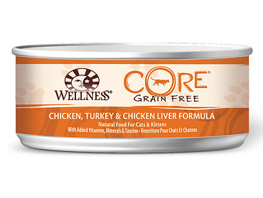 WELLNESS Core Turkey Chicken Liver Grain-Free Canned Cat Food Case