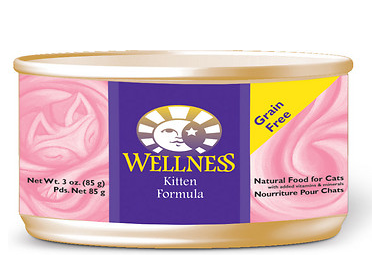 WELLNESS Kitten Canned Cat Food Case 24/3oz